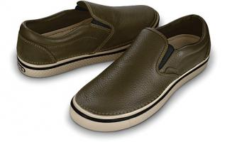 CROCS HOVER SLIP ON LEATHER M